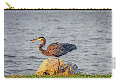 Great Blue Heron At Sunset Carry-all Pouch