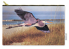 Great Blue Heron At The Beach Carry-all Pouch