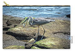 Great Blue Heron Catching A Blue Crab On Chesapeake Bay Carry-all Pouch