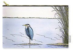 Great Blue Heron Carry-all Pouch by Charles Harden