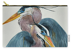 Great Blue Heron Couple Carry-all Pouch