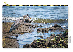 Great Blue Heron Fishing On The Chesapeake Bay Carry-all Pouch