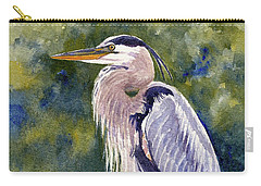 Great Blue Heron In A Stream Carry-all Pouch