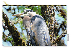 Great Blue Heron In A Tree Carry-all Pouch