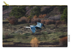 Great Blue Heron In Flight II Carry-all Pouch
