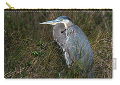 Great Blue Heron In The Grass Carry-all Pouch