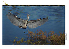 Great Blue Heron Landing Carry-all Pouch