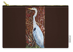 Great Blue Heron Carry-all Pouch by Marilyn  McNish