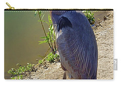 Carry-all Pouch featuring the photograph Great Blue Heron by Mariola Bitner