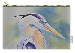 Great Blue Heron Carry-all Pouch by Mary Haley-Rocks