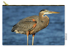 Great Blue Heron On Rock Carry-all Pouch