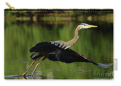 Great Blue Heron - Over Green Waters Carry-all Pouch