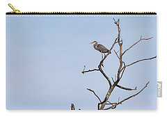 Carry-all Pouch featuring the photograph Great Blue Heron Presentation 2017-1  by Thomas Young