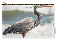 Great Blue Heron Profile Carry-all Pouch