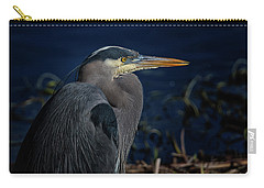 Carry-all Pouch featuring the photograph Great Blue Heron by Randy Hall