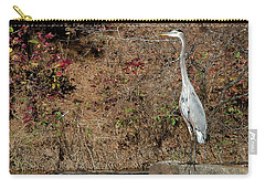 Carry-all Pouch featuring the photograph Great Blue Heron Standing Tall by George Randy Bass