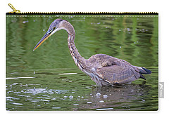 Carry-all Pouch featuring the photograph Great Blue Heron - The One That Got Away by Ricky L Jones