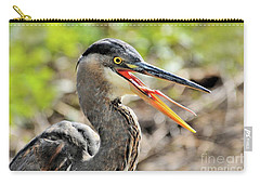 Great Blue Heron Tongue Carry-all Pouch