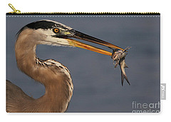 Great Blue Heron W/catfish Carry-all Pouch