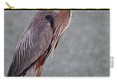 Great Blue In The Rain Carry-all Pouch