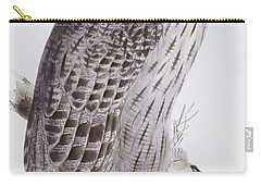Great Grey Owl Paintings Carry-All Pouches