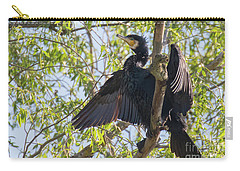 Great Cormorant - High In The Tree Carry-all Pouch by Jivko Nakev
