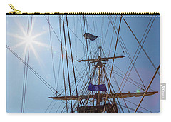 Carry-all Pouch featuring the photograph Great Day To Sail A Tall Ship by Dale Kincaid
