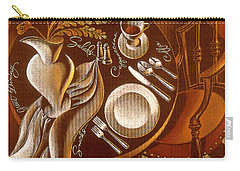 Carry-all Pouch featuring the painting Great Dining by Leon Zernitsky