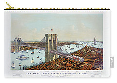 Great East River Suspension Bridge 1892 Carry-all Pouch
