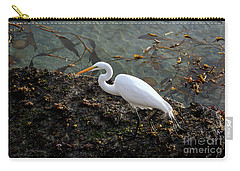 Great Egret At A Low Tide Carry-all Pouch