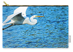 Great Egret Building Nest  Carry-all Pouch