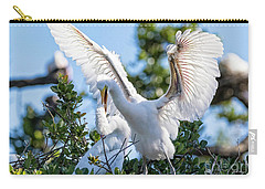 Great Egret Bullying Chick Carry-all Pouch