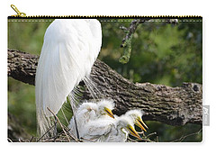 Great Egret Family  Carry-all Pouch