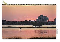Great Egret Flies At Dawn Carry-all Pouch by Robert Banach
