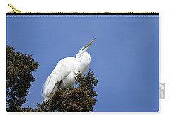 Carry-all Pouch featuring the photograph Great Egret by Gary Wightman
