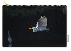 Great Egret In Morning Flight Carry-all Pouch