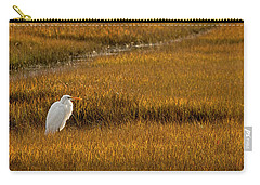 Great Egret In Morning Light Carry-all Pouch