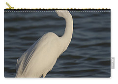 Great Egret In The Last Light Of The Day Carry-all Pouch