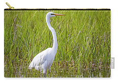 Carry-all Pouch featuring the photograph Great Egret In The Spring  by Ricky L Jones