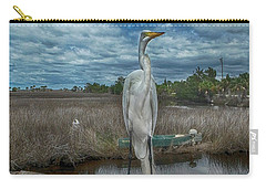 Carry-all Pouch featuring the photograph Great Egret by Judy Hall-Folde