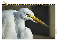 Great Egret Portrait Carry-all Pouch