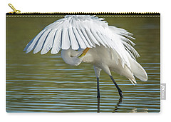 Great Egret Preening 8821-102317-2 Carry-all Pouch