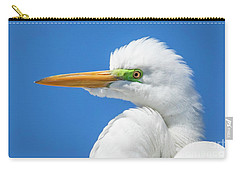 Great Egret Profile Carry-all Pouch by John Roberts