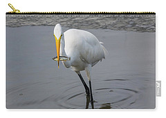 Great Egret Strike Carry-all Pouch