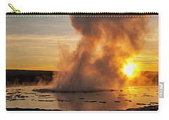 Great Fountain Geyser Sunset - Yellowstone National Park Carry-all Pouch