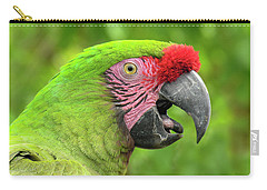 Great Green Macaw Portrait Carry-all Pouch