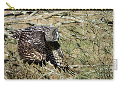 Great Grey Flying Carry-all Pouch by Torbjorn Swenelius
