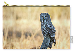 Great Grey Perching Carry-all Pouch by Torbjorn Swenelius