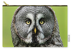 Great Grey's Portrait Closeup Square Carry-all Pouch