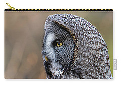 Great Grey's Profile A Closeup Carry-all Pouch by Torbjorn Swenelius